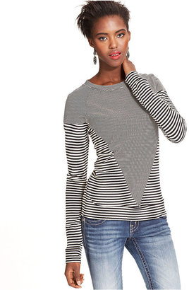 Miss Me Top, Long-Sleeve Striped