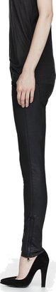 Current/Elliott Black Coated Cotton Soho Zip Jeans