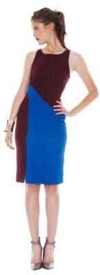 Rachel Roy Tribal Texture Crepe Inset Dress