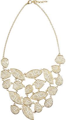 Isharya 18-karat gold-plated filigree necklace