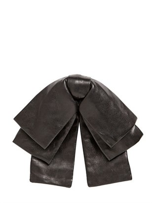 Saint Laurent Large Leather Bow