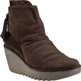 Fly London Yama Wedge Boot Black Suede