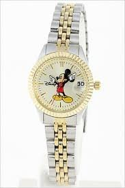Disney Mickey Mouse Women's MCK340 Classic 'Moving Hands' Two-Tone Bracelet Watch $129.95 thestylecure.com