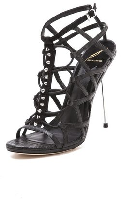 Brian Atwood Mirante Cage Sandals