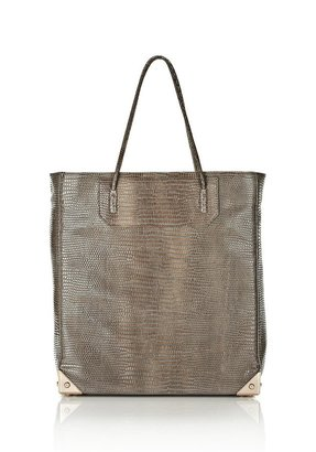 Alexander Wang Prisma Tote In Embossed Beige With Gold