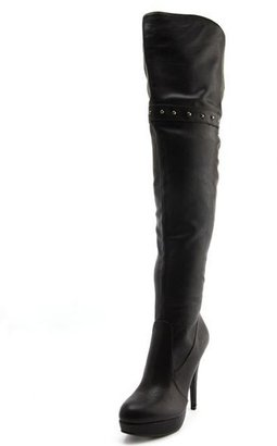 Charlotte Russe Studded Thigh-High Heel Boot
