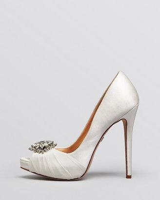 Badgley Mischka Peep Toe Evening Pumps - Pettal High Heel