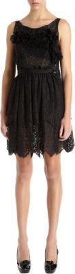 Nina Ricci Lace Ruffle Front Tier Dress