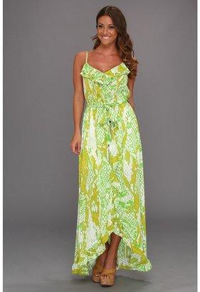 Hale Bob Heat Wave Sahara Maxi Dress (Lime) - Apparel
