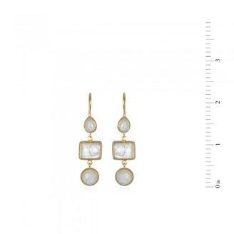 Wendy Mink Triple Drop Moonstone Earrings
