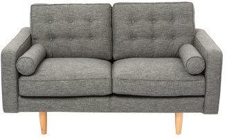 Vue Hugo 2 Seater Sofa in Charcoal Fabric