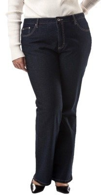 Merona Women's Plus-Size Boot-Cut Denim Jeans with Extended Sizes