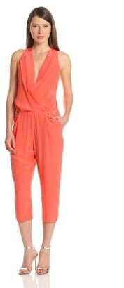 Plenty by Tracy Reese Women's Soft Solid Cropped Jumpsuit