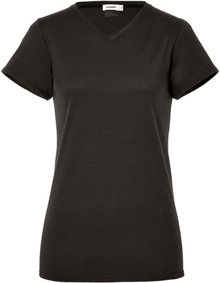 Jil Sander Cotton V-Neck T-Shirt in Gravel