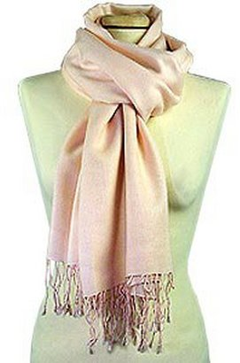 Forzieri Pale Pink Pashmina and Silk Scarf