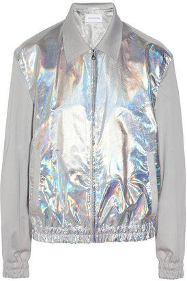 Jonathan Saunders Aaron metallic bomber jacket