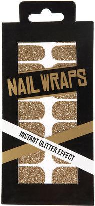 Topshop Gold Glitter Nail Wraps