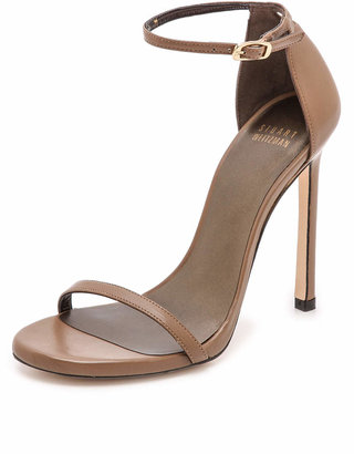 Stuart Weitzman Nudist 110mm Sandals $398 thestylecure.com