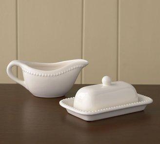Pottery Barn Emma Gravy Boat & Butter Dish