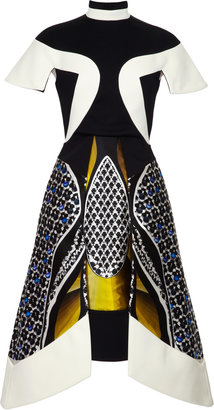 Peter Pilotto Anita Printed Silk-Blend Paneled Dress