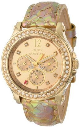 Juicy Couture Women's 1901062 Pedigree Gold Metallic Leather Strap Watch $187.99 thestylecure.com