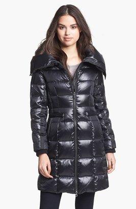 BCBGMAXAZRIA Pillow Collar Down Walking Coat