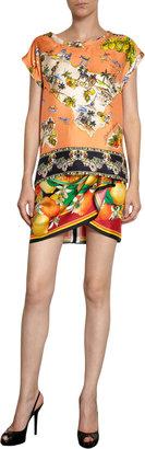 Dolce & Gabbana Decorative Floral Print Skirt