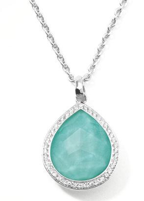 Ippolita Stella Teardrop Pendant Necklace in Turquoise Doublet with Diamonds