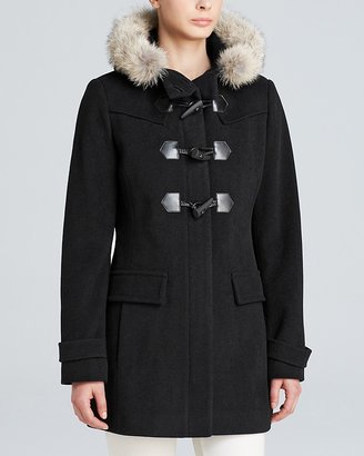Marc New York Piper Fur-Trimmed Piper Toggle Coat
