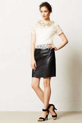 Anthropologie Leather Pencil Skirt