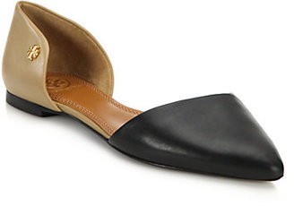 Tory Burch Maison Leather D'Orsay Flats
