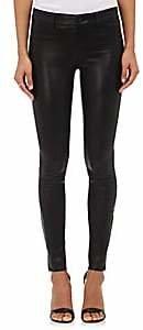J Brand Women's 811 Mid-Rise Skinny Leather Pants - Black