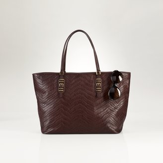 Ralph Lauren Woven Leather Tote