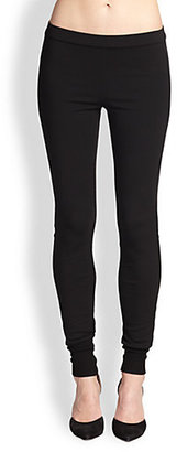 Vince Leather-Piped Leggings
