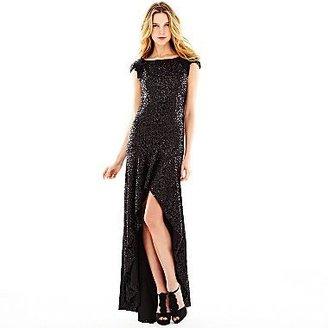 Marchesa Pearl Georgina Chapman of High-Low Sequin Dress
