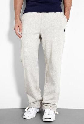 Polo Ralph Lauren Grey Fleece Navy Logo Track Pants