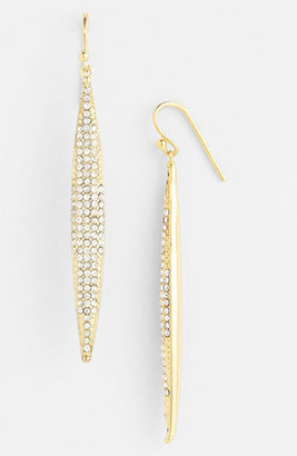 Vince Camuto Spear Earrings Gold/ Clear Crystal