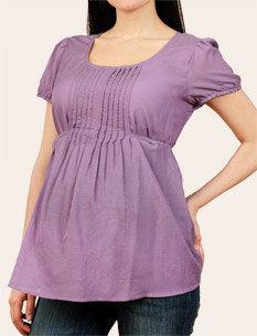 Motherhood Short Sleeve Tie Detail Maternity Blouse