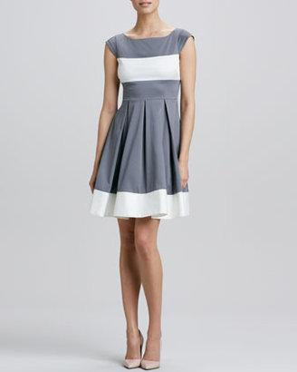 Kate Spade Adette Cap-Sleeve Colorblock Dress