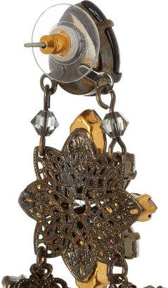 Erickson Beamon Pretender gunmetal-plated Swarovski crystal earrings