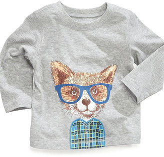 First Impressions Baby Shirt, Baby Boys Long-Sleeved Fox Top