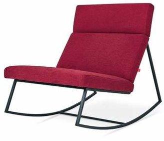 Gus* Modern GT Rocking Lounge Chair Gus* Modern Fabric: Stockholm Merlot, Color: Black Powder Coat