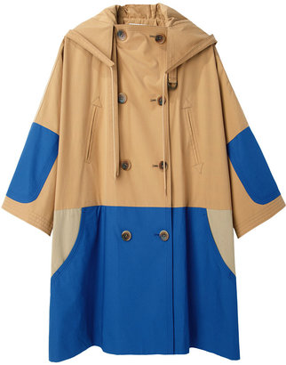 Tsumori Chisato Patchwork Hooded Coat