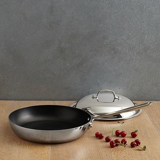 "All-Clad 9"" Stainless Steel Nonstick French Skillet with Lid"