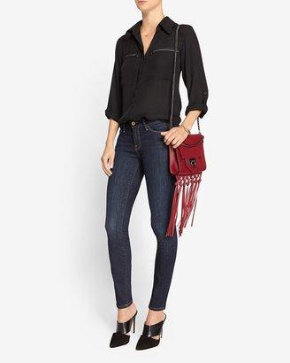 L'Agence Zipper Pocket Blouse