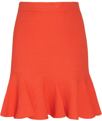 Carven Flared crepe mini skirt