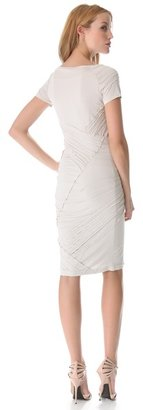 Donna Karan Short Sleeve Banded Dress