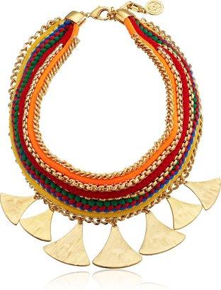 Ben-Amun Jewelry Multicolor Woven-Cord Pendant Necklace
