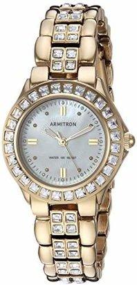 Armitron Sport Armitron Women's 75/3689MPGP Swarovski Crystal Accented -Tone Bracelet Watch