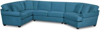Asstd National Brand Fabric Possibilities Roll-Arm 3-pc. Left-Arm Corner Sofa Sectional
